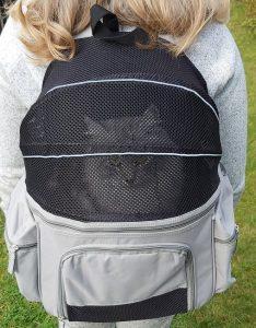 transportryggsäck med katt